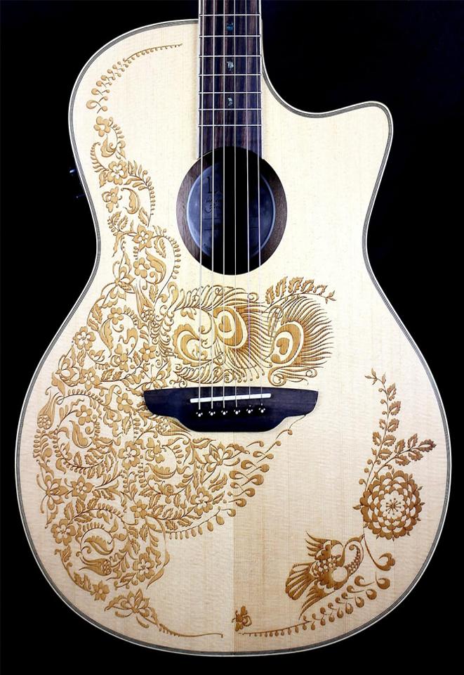 Khắc laser guitar đẹp cực chuẩn nét