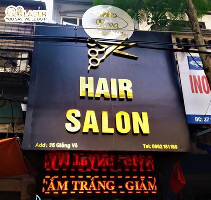biển quảng cáo tóc alu