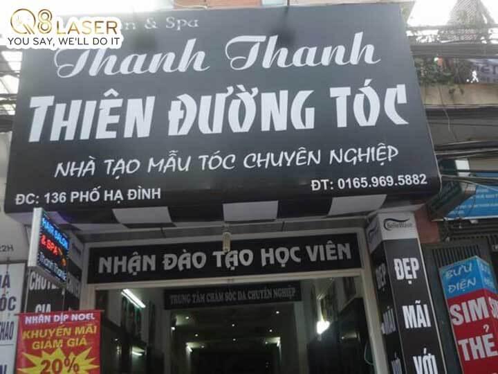 bảng biển quảng cáo tóc đẹp tại Q8laser