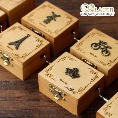 khắc hộp gỗ, hộp rượu