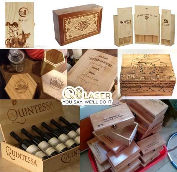 khắc hộp rượu