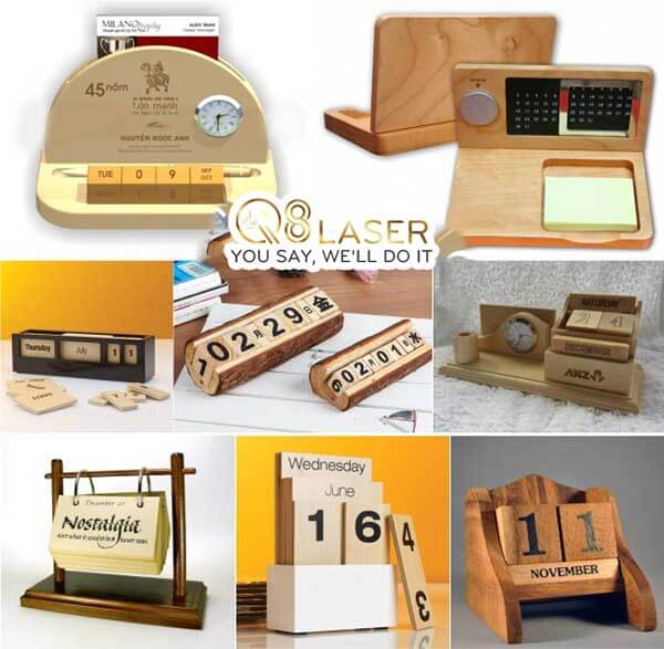 làm lịch gỗ tại Q8laser