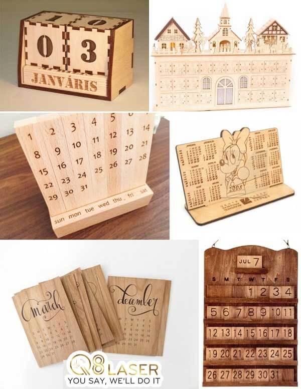 khắc lịch gỗ giá rẻ