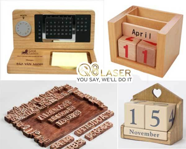 khắc lịch gỗ q8laser