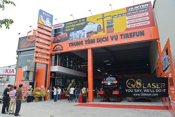 mẫu biển quảng cáo gara ô tô