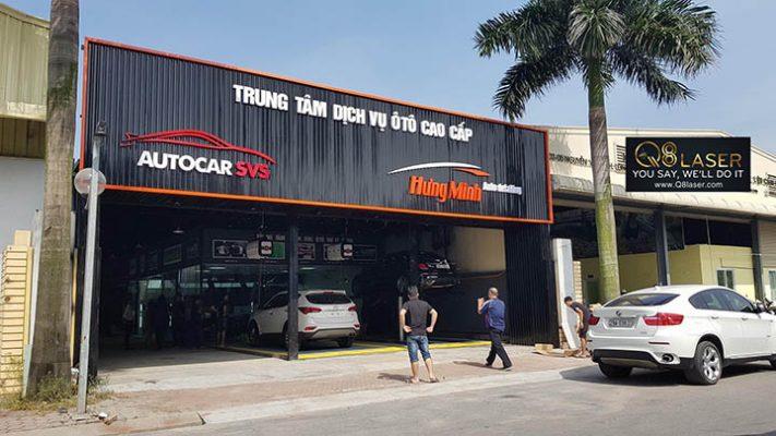 biển quảng cáo gara ô tô