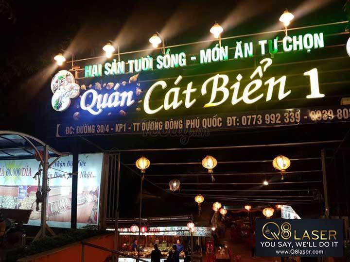 làm biển quảng cáo nhà hàng hải sản