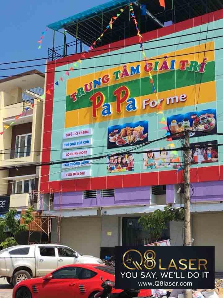 biển quảng cáo khu vui chơi trẻ em