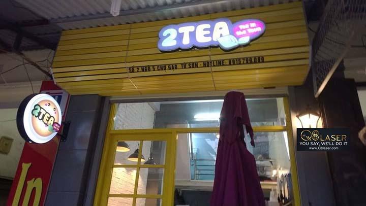 làm biển hiệu quảng cáo quán trà sữa