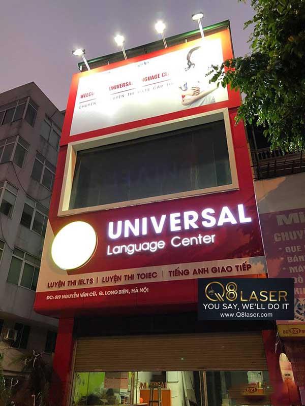 biển quảng cáo trung tâm tiếng Anh