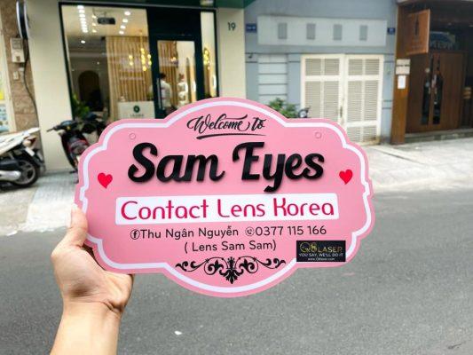 biển quảng cáo len mắt kính