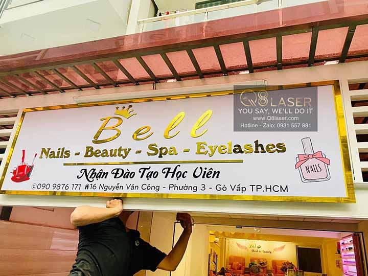làm biển hiệu quảng cáo nail thẩm mỹ spa