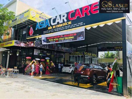 biển quảng cáo rửa xe oto
