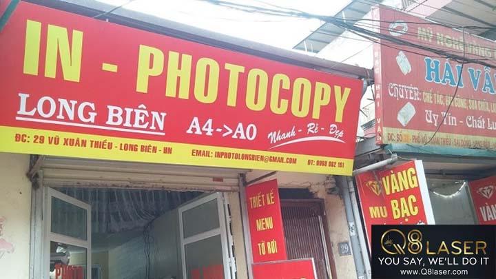 bảng quảng cáo photocopy