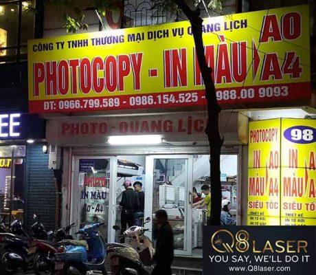 biển quảng cáo photocopy