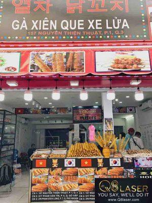 biển quảng cáo quán ăn vặt
