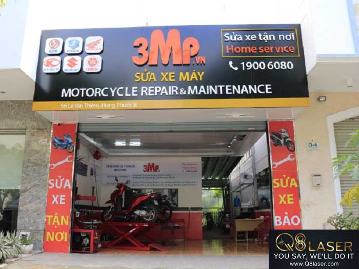 biển quảng cáo sửa xe máy
