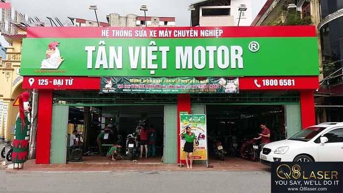 biển quảng cáo sửa chữa xe máy