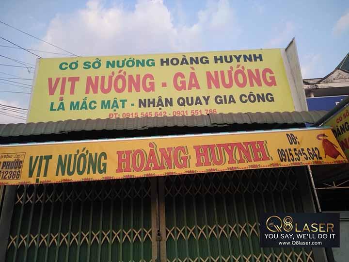 Biển hiệu quảng cáo vịt quay