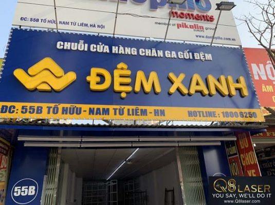 biển quảng cáo chăn ga gối đệm