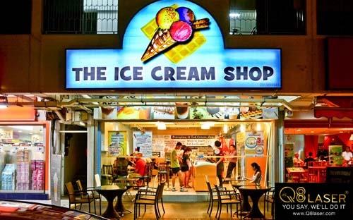 biển quảng cáo kem đẹp ấn tượng