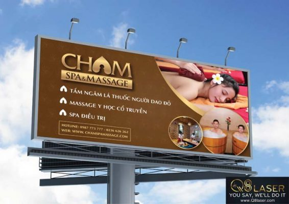 bảng quảng cáo massage