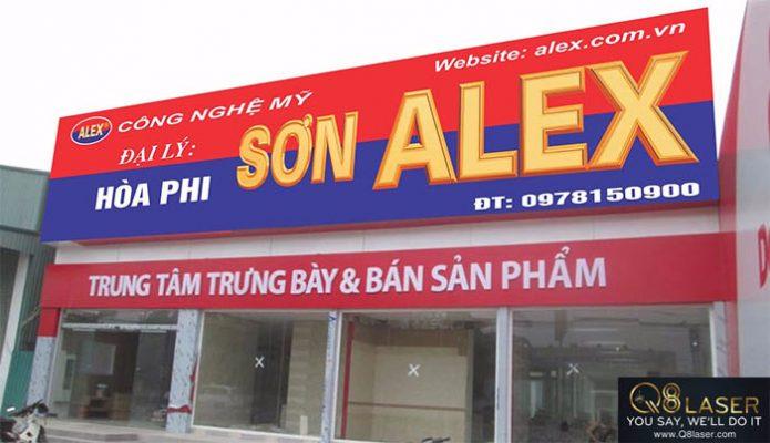 biển quảng cáo cửa hàng sơn