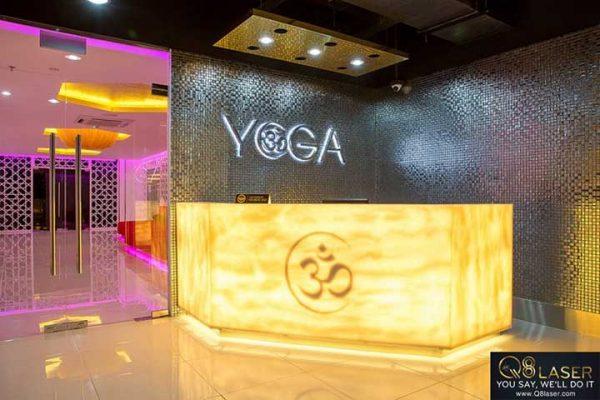 biển hiệu quảng cáo yoga