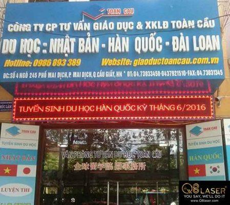 biển hiệu quảng cáo du học