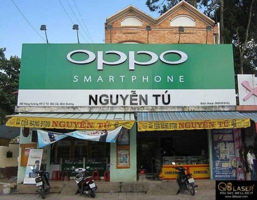 bảng hiệu quảng cáo oppo