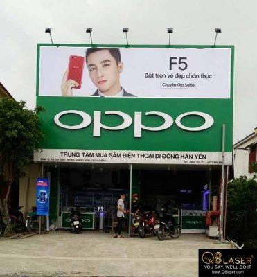 biển hiệu quảng cáo oppo