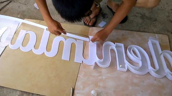 Cách làm chữ nổi bằng mica