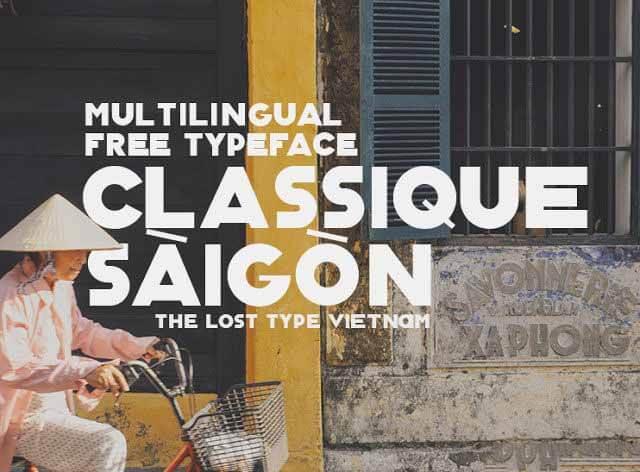 Font chữ Classique saigon typeface