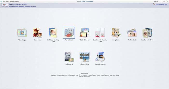 Phần mềm thiết kế biển quảng cáo Arcsoft Print Creations