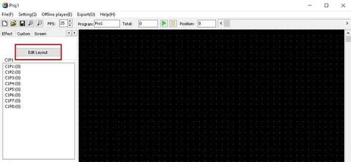 Phần mềm lập trình led quảng cáo LedEdit