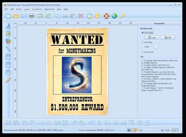 Phần mềm RonyaSoft Poster Designer