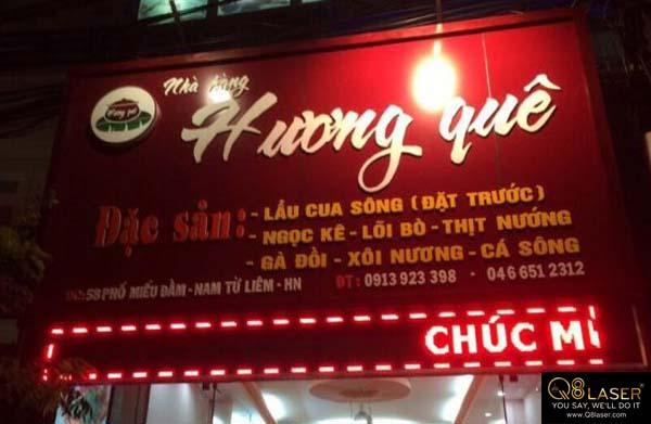 biển quảng cáo ăn đêm