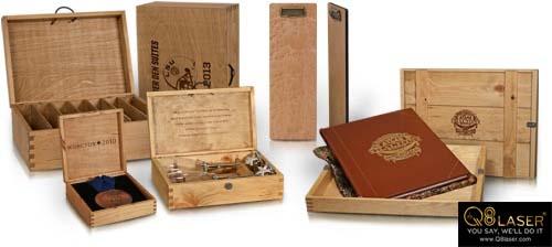 Cắt chữ gỗ hộp gỗ quà tặng