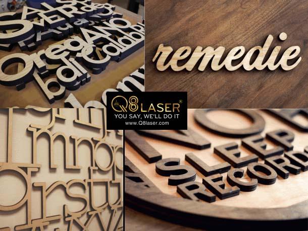 cắt chữ gỗ cnc laser