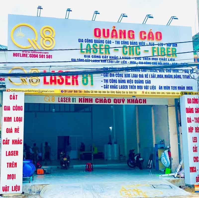 Xưởng gia công biển quảng cáo tại Bình Tân
