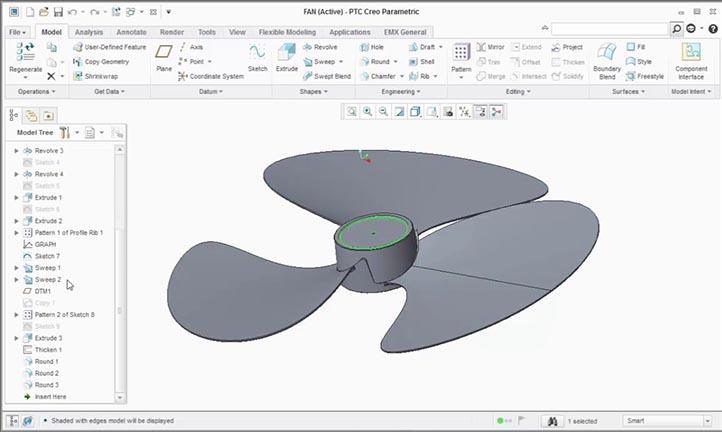 Phần mềm cnc Creo Parametric